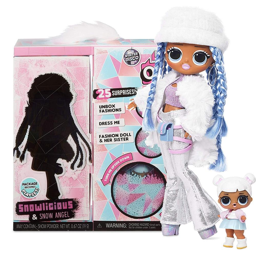 L.O.L Surprise! O.M.G. Winter Disco Snowlicious Fashion Doll & Sister LOL Doll