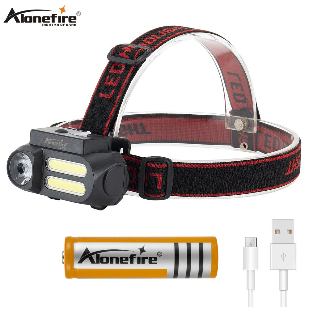 Alonefire HP41 Portable Mini LED Headlamp Work Light Waterproof Headlight Use 18650 Battery For Night Lighting Flashlight