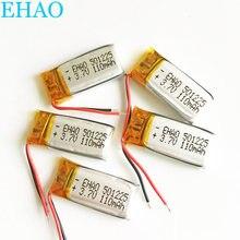 Lot 5 sztuk EHAO 501225 3.7V 110mAh litowo-polimerowa LiPo akumulator do Mp3 PAD DVD słuchawki bluetooth głośnik 051225