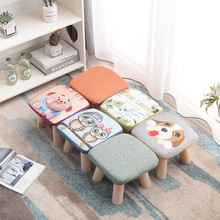 Small Stool Solid Wood Household Small Chair Shoe Replacement Stool Square Stool Adult Sofa Stool Low Stool Creative Small Bench