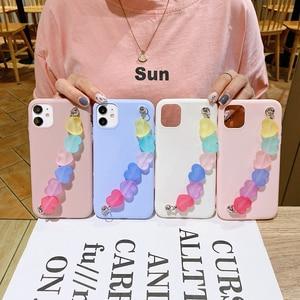 Image 2 - Funda de silicona con correa de TPU para iphone, funda de silicona con arcoíris, Love, para iphone 12 11 Pro XS Max XR X 8 7 6 6S Plus SE 2020