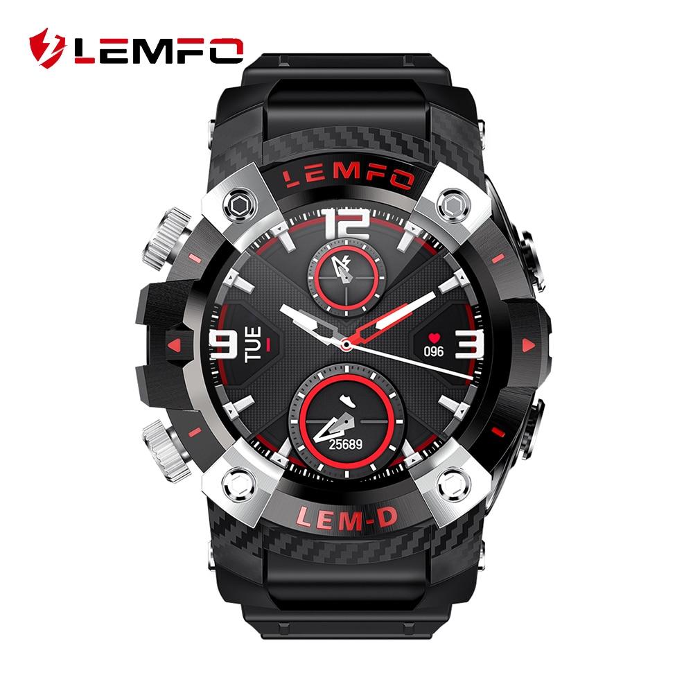 LEMFO LEMD Smart Watch Men Bluetooth Headphone 360 360 HD Screen Heart Rate LEM D Smartwatch Women Smart Watch 2020 for Android