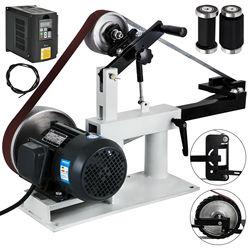 Ленточный шлифовальный станок для ножа с переменной скоростью, ленточный шлифовальный станок 2x82 дюйма 1,5 кВт 2HP