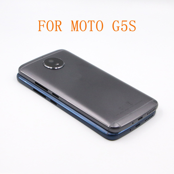Cubierta de batería G5S para Motorola Moto G5S XT1793 XT1794, lente de cristal para cámara, 10 Uds., envío gratis
