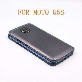 Envío gratis 10 piezas G5S de la cubierta de la batería Tapa para Motorola Moto G5S XT1793 XT1794 cubierta posterior de la batería + Cámara de la Lente de Cristal