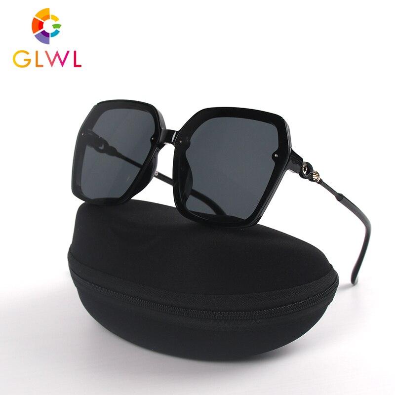 Women's Sunglasses With Box Sun Glasses Luxury 2020 Vintage Woman Square Black Eyewear Ladies Eyeglass Case Driver Shades Retro
