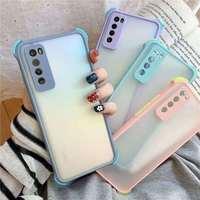 Funda de silicona suave para teléfono Huawei Nova 7I 7 6 5 SE PRO, carcasa a prueba de golpes, translucencia mate Simple, Color caramelo