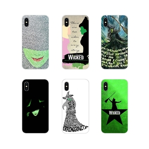 Phone Case Covers For Samsung A10 A30 A40 A50 A60 A70 M30 Galaxy Note 2 3 4 5 8 9 10 PLUS Broadway Musical Wicked Lyrics Amazing(China)