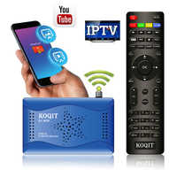 Koqit-Receptor de televisión por satélite DVB S2 T2MI, buscador DVBS2 CS Vu Biss, decodificador IPTV, WIFI, Youtube, captura USB