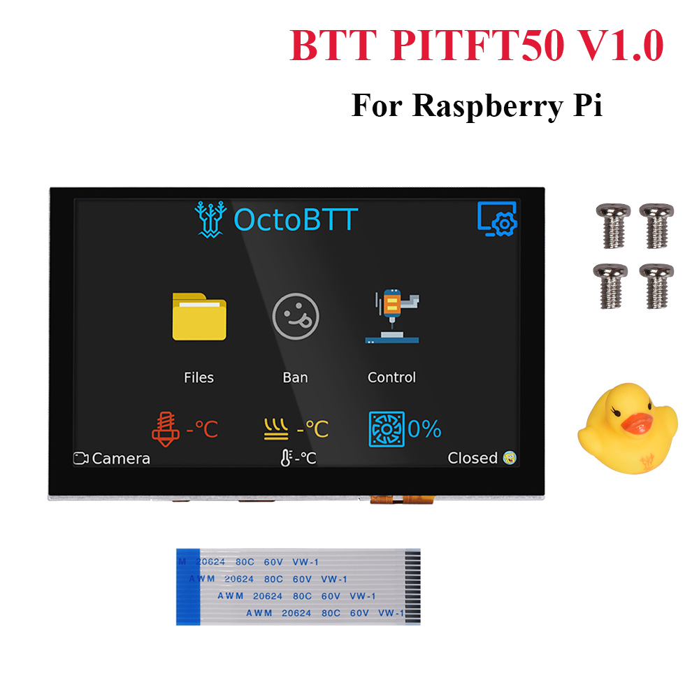 BIGTREETECH PITFT50 V1.0 <font><b>5</b></font> <font><b>Inch</b></font> <font><b>Raspberry</b></font> <font><b>Pi</b></font> LCD Touch Screen DSI 800*480 <font><b>Display</b></font> For <font><b>Raspberry</b></font> <font><b>Pi</b></font> 3B/3B+/4 3D Printer Octoprint image