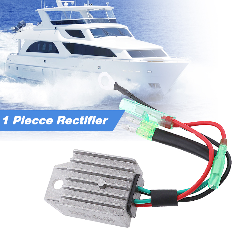 1 Pcs 4 Wires Boat Voltage Regulator Rectifier Fit Universal 2 Stroke 15HP Marine Boat Outboard 1.57x1.38x0.87″ Aluminium Alloy-in Boat Engine from Automobiles & Motorcycles