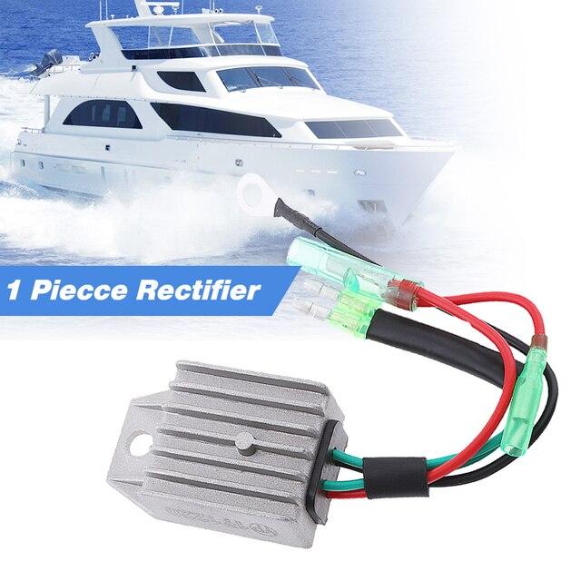 4 Wire Boat Voltage Regulator Rectifier Fit Universal 2 Stroke 15HP Marine Boat Outboard Aluminium Alloy Boat Accessories Marine