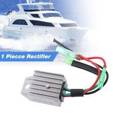 Regulador de tensão de barco 4 fios, regulador de tensão de barco universal 2 tempos 15hp marinho barco exterior liga de alumínio acessórios marinhos