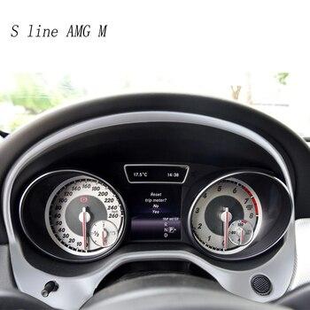 Para Mercedes Benz GLA X156 instrumento Interior tablero Panel volante cubierta pegatinas embellecedor bisel tira moldura guarnición