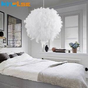 Image 1 - Ładny wisiorek z piórkiem światła Droplights Kids Room wisząca lampa Crystal zawieszenie w sypialni ślub oprawa oświetleniowa do sypialni