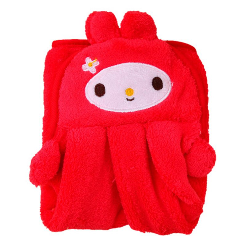 Baby Towels Super Soft Coral Fleece Kid Child Towel Cartoon Baby Wipe Sweat Hung Bathroom Towel