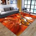 Criativo chama padrão da guitarra tapetes para sala de estar quarto área do jogo da criança tapetes logotipo personalizado 3d impressão casa tapete