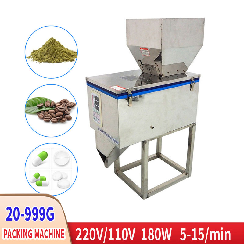 20-999g Desktop Storage Machine Granular Powder Material Packaging Machine Coffee Bean Seed Filling Machine