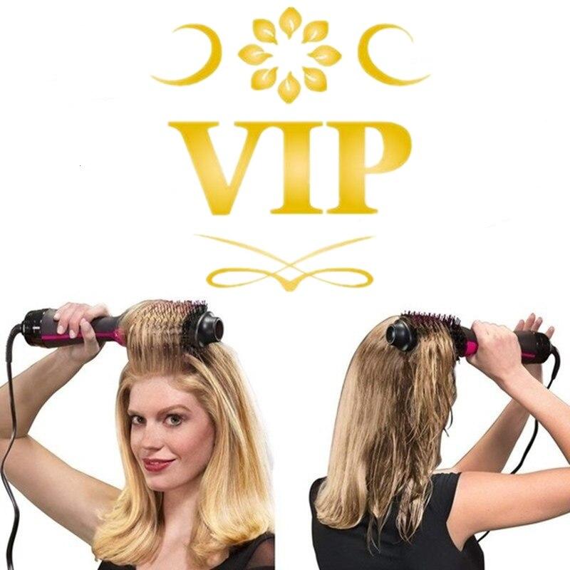 3-in-1 Salon Einen Schritt Haar Trockner & Volumizer Negative Ionen Richt Pinsel Verwirrt Haar Kamm Reduzieren frizz & Statische Trockner