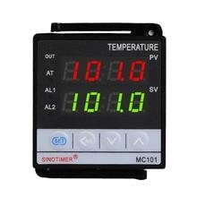 SINOTIMER короткий корпус вход PID регулятор температуры Термостат трехфазный регулятор питания релейный выход охладитель сигнализации