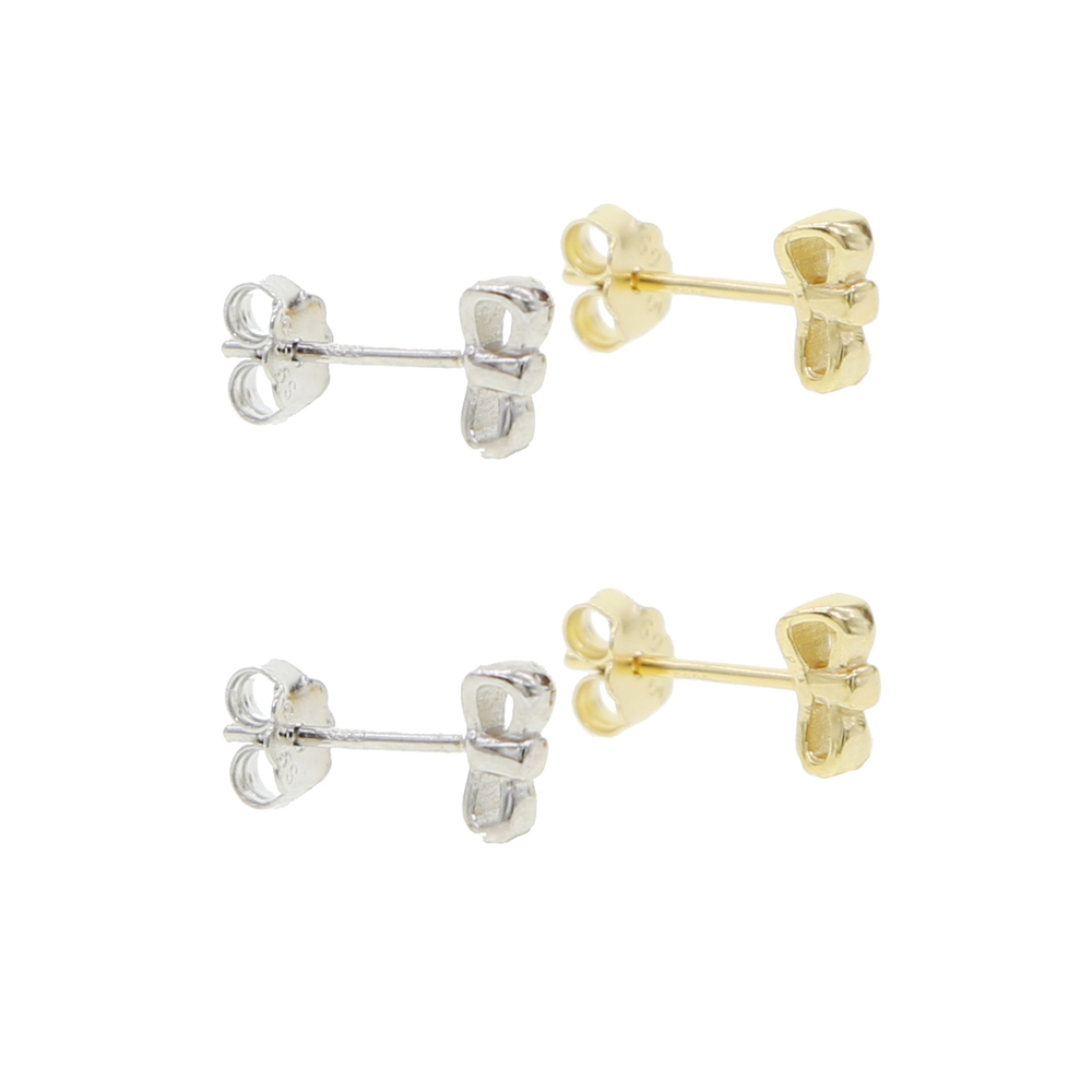new minimal delicate multi piercing silver bowknot studs earring 925 sterling silver tiny mini small cute bowknot stud earring