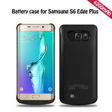 4200mAh Extended Phone Battery Case For Samsung Galaxy S6 Edge Plus G9250 Portable Power Bank Case External Battery Charger Case
