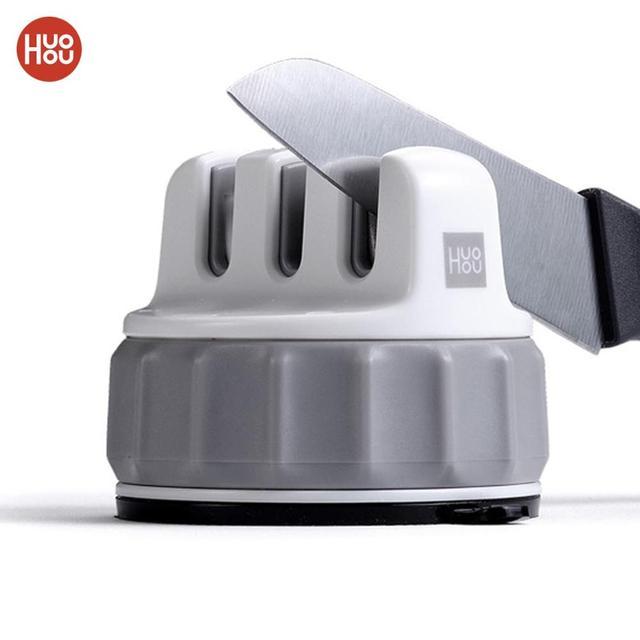 Huohou sabit bileme taşı üçlü tekerlek Whetstone süper emme bıçak bileyici bileme aracı Grindstone