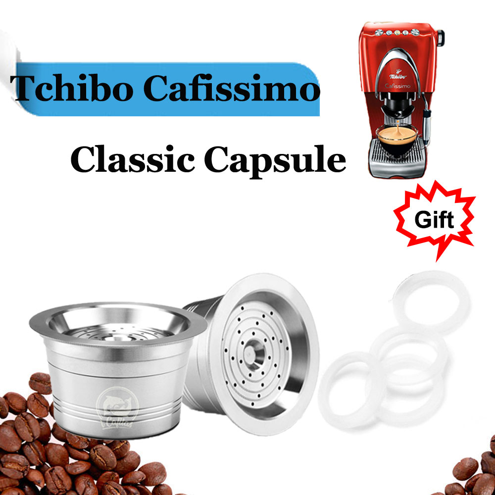 Reusable Refill Coffee Capsule For Tchibo Cafissimo & K Fee ALDI Expressi Coffee Maker Machine Stainless Steel Metal Filter Pod