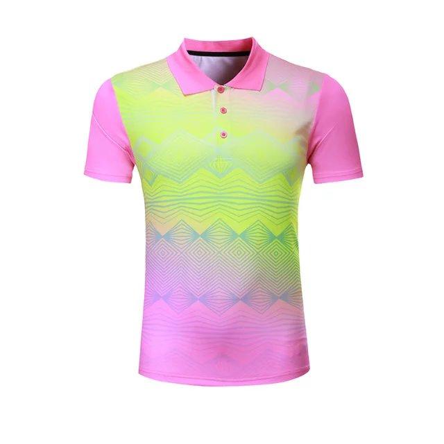 Профессиональная быстросохнущая рубашка для игры в бадминтон для мужчин и женщин, теннисная футболка s, спортивная рубашка поло для гольфа, футболка для пинг-понга-2
