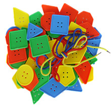 Threading-Buttons Toys Craft-Toy Beads Handmade DIY Creative Early-Educational Kids Blocks