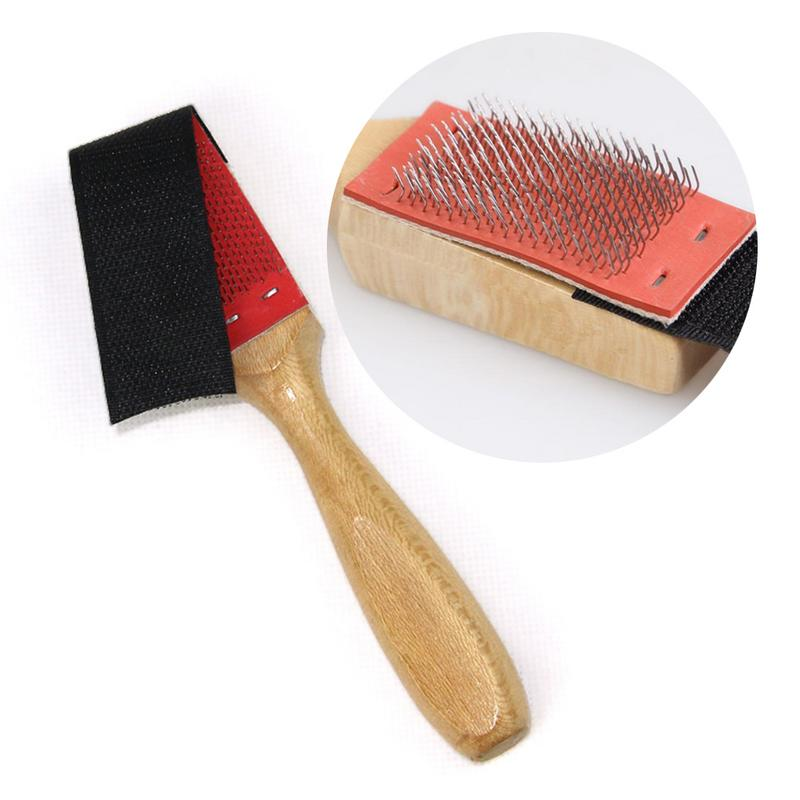Wood Suede Sole Wire Shoe Brush Cleaners Ballet Dance Shoes Cleaning Brushes Brush For Footwear