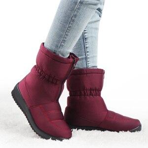 Image 3 - Su geçirmez kış kar botları yarım çizmeler kadınlar için sıcak kürk astarı Platform ayakkabılar bayanlar Botines siyah Botas Mujer Invierno 2020