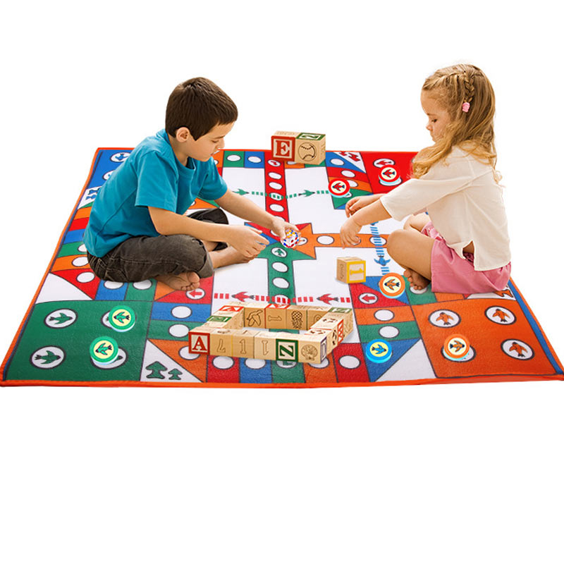 Kids Children Game Carpet Flying Chess Crawling Mat  Accessories Large Toys Pad YH-17