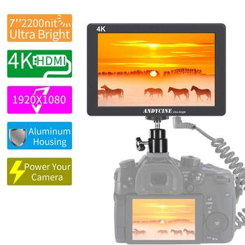 ANDCYINE X7 Ultra Brightness on-Camera Video Monitor CNC Al Housing 1920x1080 Camera Filed Monitor Accept 4K HDMI Input/Output