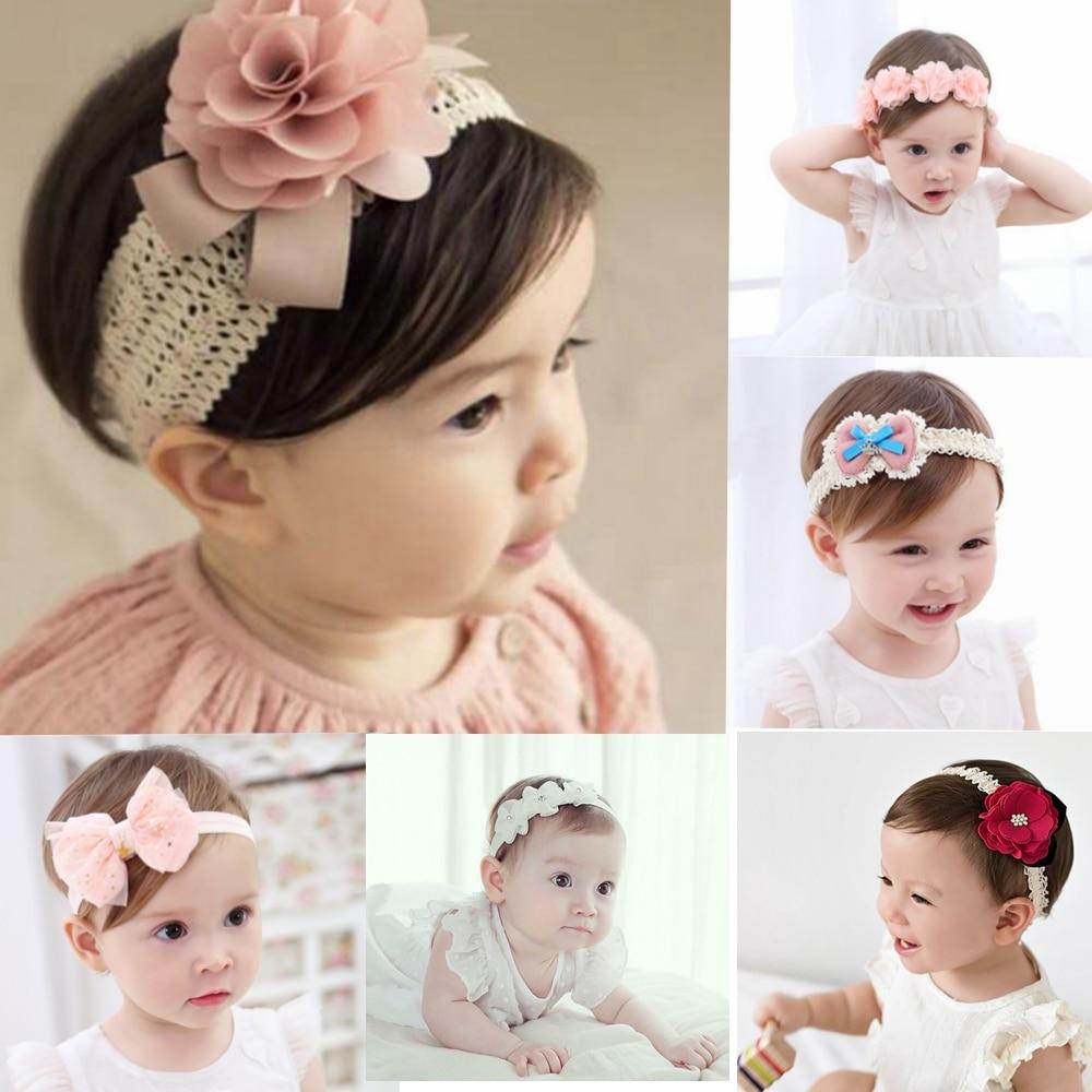 baby headband korean newborn flowers headbands baby girls hair accessories DIY jewelry Children photographed photos accessory(China)