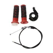 цена на Twist Throttle Accelerator Grip + Cable For 47cc 49cc Mini Dirt Bike Quad Pocket