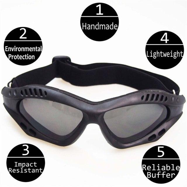 Óculos de proteção da motocicleta ciclismo óculos elásticos cs tactical óculos de segurança à prova de vento anti-poeira esportes ao ar livre 3