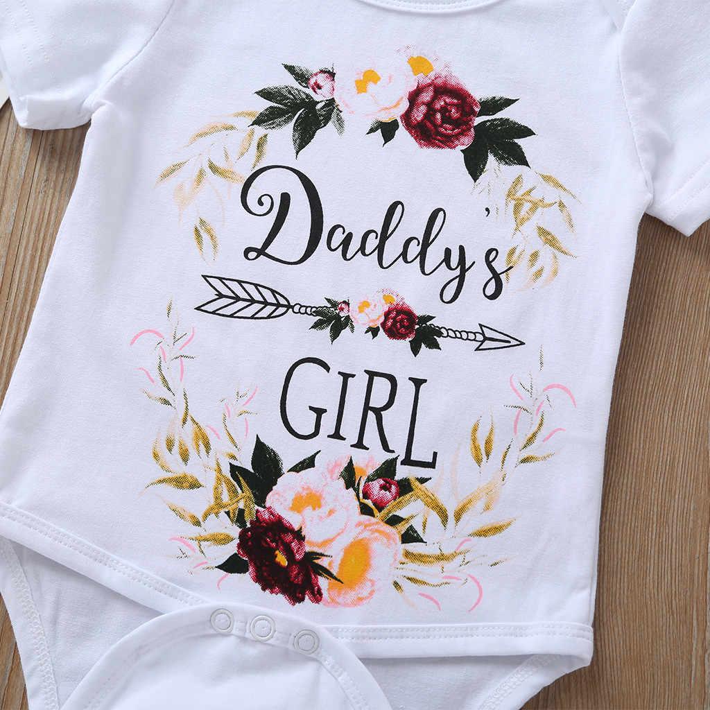 新生児幼児ベビーガールズロンパース 2020 文字の印刷シンプルなスタイルロンパース服ロンパースベビー少年少女ジャンプスーツ新生児