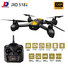 JXD518 GPS RC Drone Quadcopter WiFi FPV HD Camera Wide Angle High Hold Mode 4CH 6-axis Gyroscope UAV Helicopter LED Light Toys lensoul xt 1 headless mode 2 4ghz 4ch full hd 1080p camera drone throwing mode fixed high folding uav receiving packet