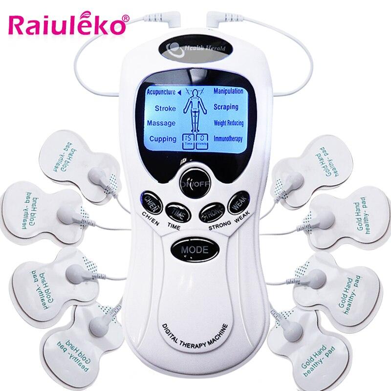 8 Models Electric Herald Tens Muscle Stimulator Ems Acupuncture Body Massage Digital Therapy Machine Electrostimulator