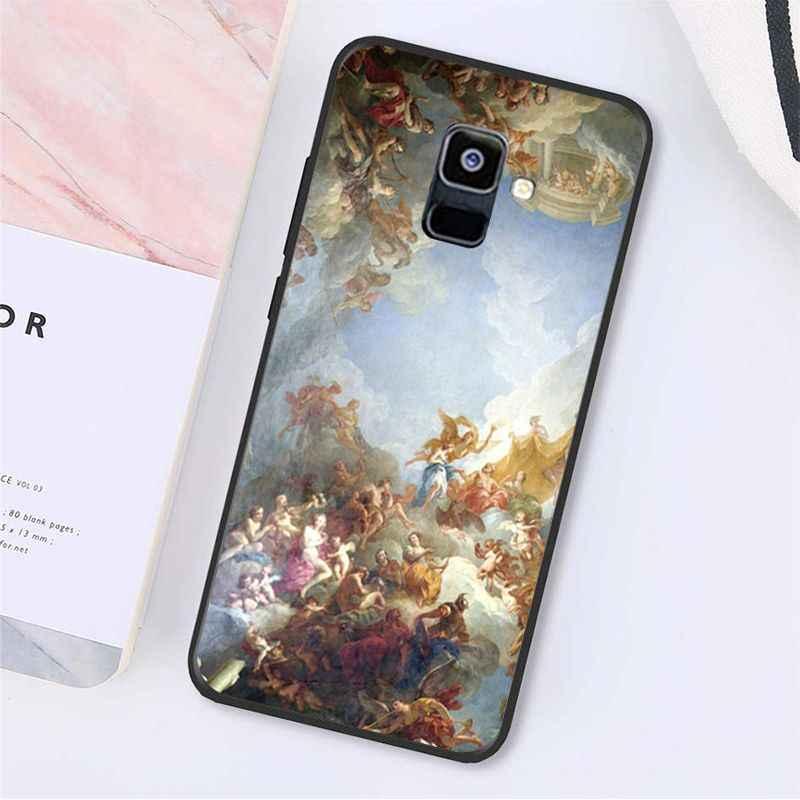 Yinuoda stworzenie adama malarstwa renesansowego pop-art z nadrukiem telefonu etui do Samsung Galaxy A7 A50 A70 A40 A20 A30 A8 A6 A8 Plus A9 2018