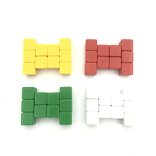 High-quality 100/200 Pcs/Lot 16mm Blank Dice D6 Color  Can Write and Carving Blank Dice Children Teaching Game Dice Wholesale