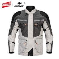 LYSCHY Motorcycle Jacket Men Winter Waterproof Motorbike Riding Chaqueta Moto Jacket Motorcycle Protective Gear Armor Clothing