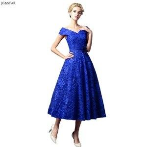 Image 2 - Turquoise Royal Blue Pink Red Green Bridesmaid Dress Tea Length vestidos de dama de honor para boda robe demoiselle dhonneur