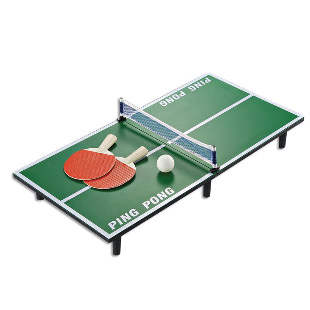 1 Набор Мини Набор для настольного тенниса деревянная ракетка для пинг понга настольная портативная доска, Набор для игры Спортивная развлекательная игрушка для детей