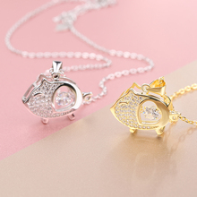 Kinel 618 Promotions Sterling Silver Necklaces 925 for Women Cute Animal Piggy Necklaces Pendants Silver Jewelry