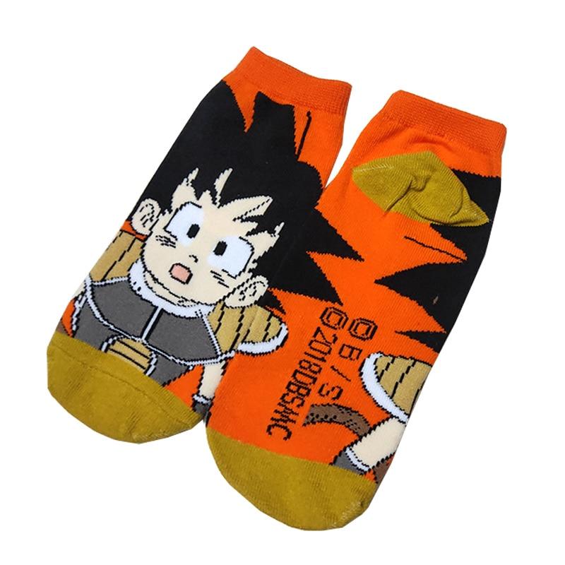 1 Pair Dragon Ball Funny Cute Women Cotton Socks Dragonball Goku Harajuku Kawaii Female Fashion Short Boat Socks