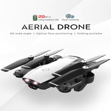 L107 Drone 2.4Ghz 4CH 4K 1080P Wifi FPV Dual Camera Optical Flow Foldable Remote Control Helicopter RC Quadcopter Selfie Drone