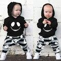 Комплект одежды для новорожденных мальчиков, толстовка с кошмаром + брюки привидение, костюмы на Хэллоуин спортивный костюм для маленьких д...