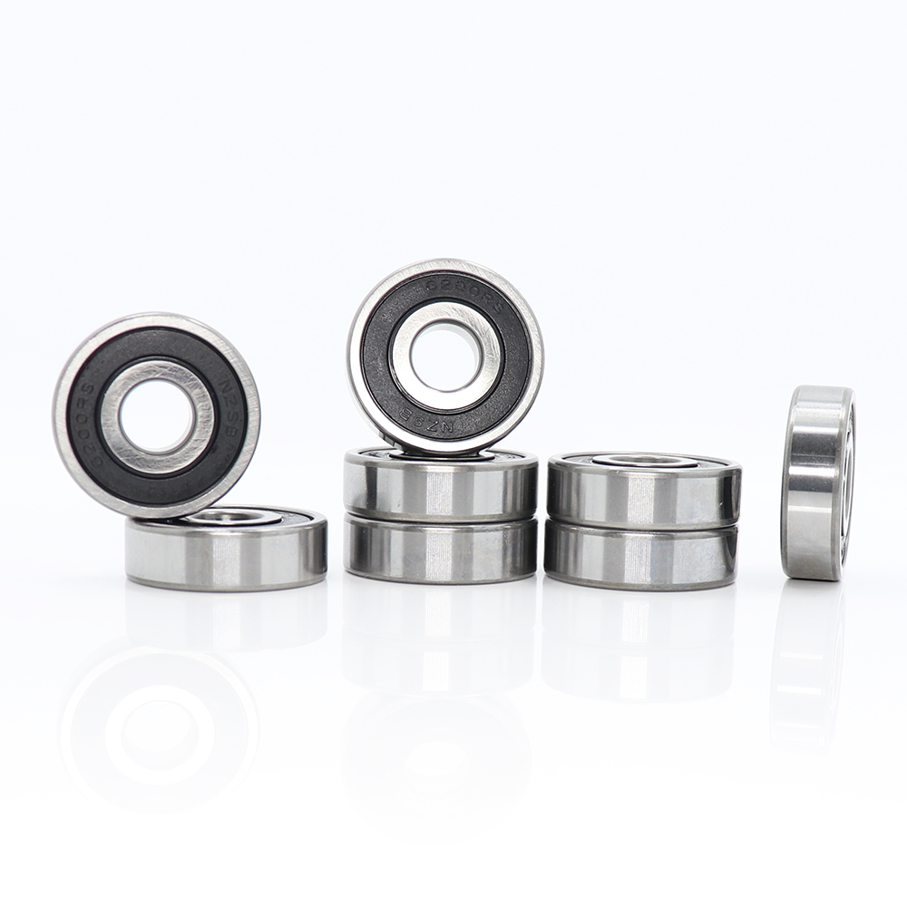 <font><b>6200RS</b></font> Bearing ABEC-3 (8 PCS) 10x30x9 mm Deep Groove 6200-2RS Ball Bearings 6200RZ 180200 RZ RS 6200 2RS EMQ Quality image
